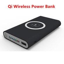 Qi wireless Power 10000mah Tragbare Power Bank für iPhone Xiaomi Samsung Externe Batterie Ladegerät Telefon Drahtlose Poverbank