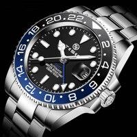 TESEN DESIGN 2021 GMT Men\'s Mechanical Watches Men Top Luxury Brand Automatic Mechanical Stainless Steel 316L Waterproof Watch