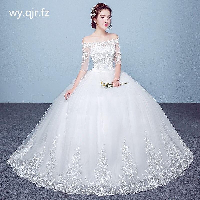 PRXD-6016 # الزفاف اللباس الجملة الدانتيل يصل التطريز العروس الزواج فساتين الأبيض الكرة ثوب مصنع عيد الميلاد كرنفال زائد حجم