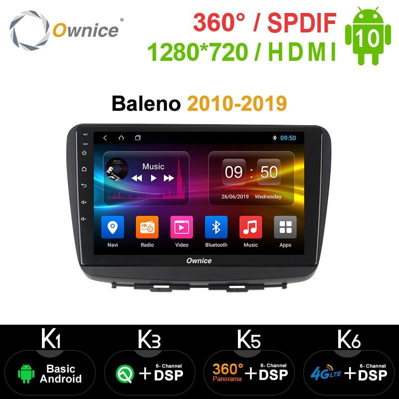 "PX6 DSP 10.1 ""araç DVD oynatıcı oynatıcı 64GB ROM 4GB RAM WIFI 4G LTE GPS harita radyo TPMS OBD TV Android 10.0 SUZUKI Baleno 2010 - 2019"