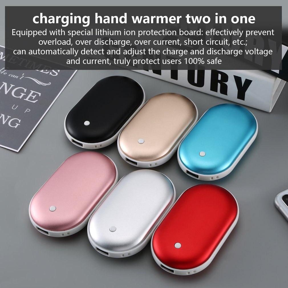 Multi-función de carga del Tesoro de adoquines calentador Usb para manos Mini portátil de carga del Tesoro de carga de mano más caliente dos en uno CE