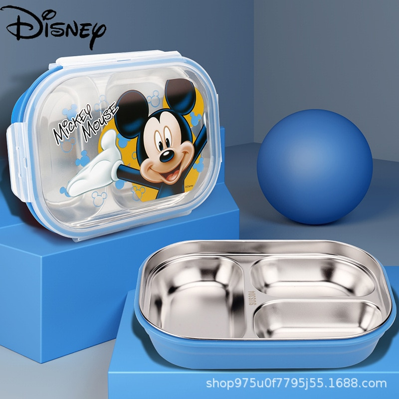 Disney divider 304 stainless steel lunch box children adult lunch box thermal insulation and anti-scalding with lid