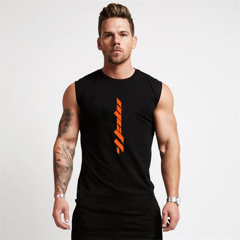 Summer Gym Tank Top Men Workout Sleeveless Shirt Bodybuilding Clothing Fitness Mens Sportswear Muscle Vests Tanktops