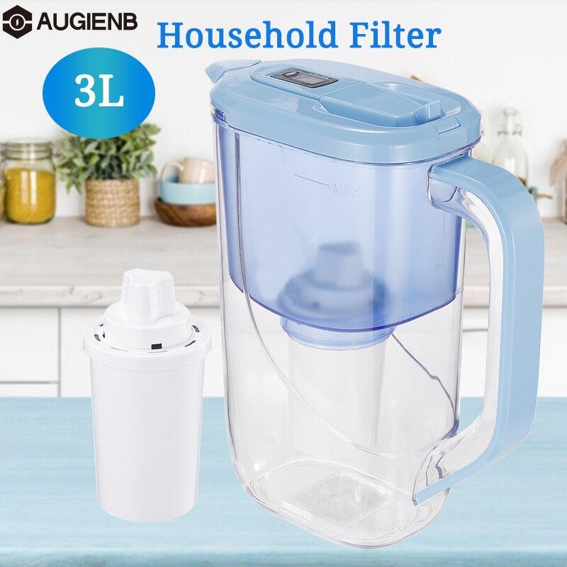 Filtro de agua 3L ionizador purificador hervidor neto con pantalla indicadora de filtro electrónico para la salud de la oficina en casa