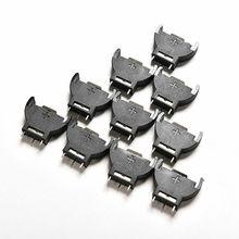 10 pièces CR2032 demi-rond lithium bouton cellule Coin batterie support de la boîte boîtier CR 2032 piles support prise 3 broches