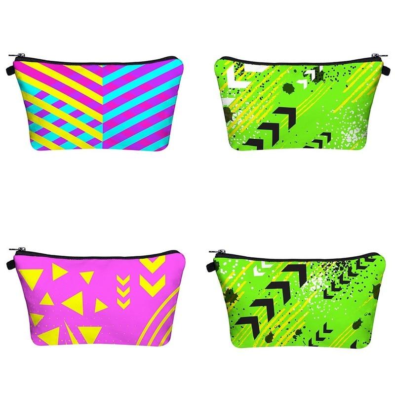 Women's Cosmetic Bag 3D Printing Make Up Organizer Saves Masks Clutch Travel Lipstick Handbags Zipper Wallet Storage Phone Bag
