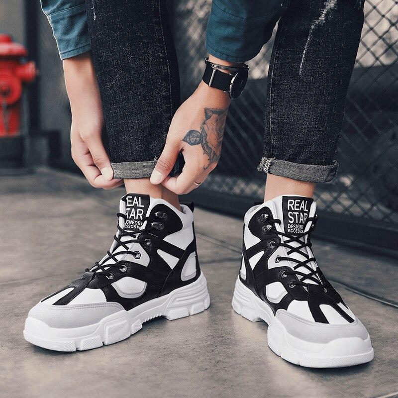Zapatos de malla clásicos informales para hombre, zapatillas ligeras transpirables para hombre, cómodas zapatillas de plataforma Martin de alta calidad