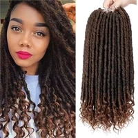 synthetic river goddess locs faux locs ombre braid hair soft pre looped dreadlocks crochet braids 24strands 16 20 inch grey