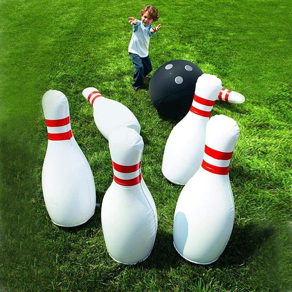 6 قطعة/مجموعة نفخ البولينج الكرة للأطفال الملونة مبالغا لعب الاطفال الطلق ألعوبة شاطئ المراعي عائلة الحلي