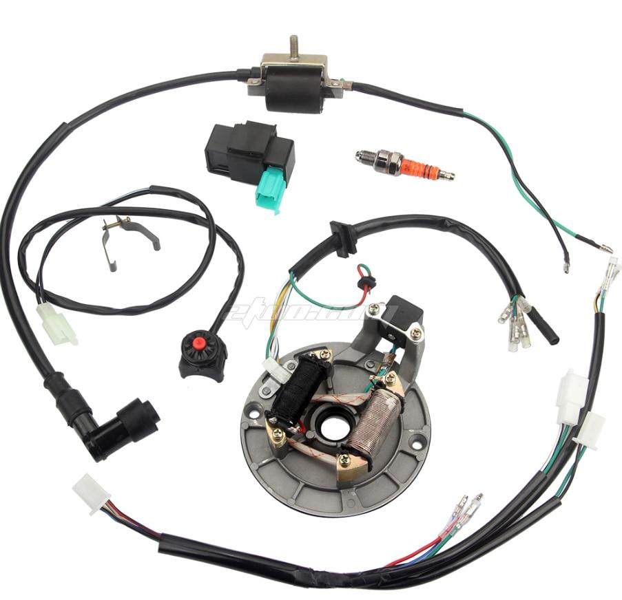 Mazo de cables de arranque Dirt Bike, mazo de bobina CDI para Magneto Universal de 50-125CC