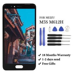 1pc lcd para meizu m5s m612h display lcd de toque digitador da tela assembléia para meizu m5s m612h display lcd digiziter aseembly