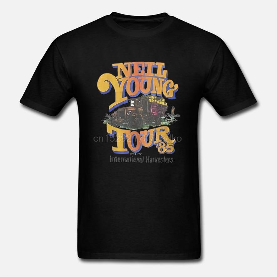 Nueva camiseta reimpresa tamaño S-2XL de concierto de música de ROCK gira de 1985 Vtg