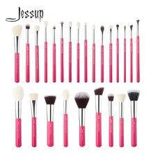 Jessup beauté maquillage pinceaux ensemble 6-25 pièces Rose-Carmin poudre fond de teint fard à paupières ligne mélangeur outils cosmétiques livraison directe