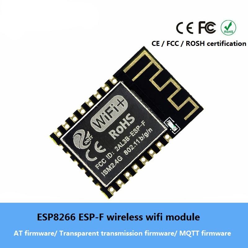 ESP8266 ESP-F módulo wifi inalámbrico AT/transmisión transparente/Firmware MQTT Serial compatible con wifi con ESP-12E/ ESP-12F