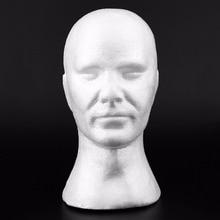 2019 nouveauté créatif hommes mâle lisse Mannequin tête modèle perruque chapeau lunettes casquettes affichage bulle Mannequin tête avec oreilles