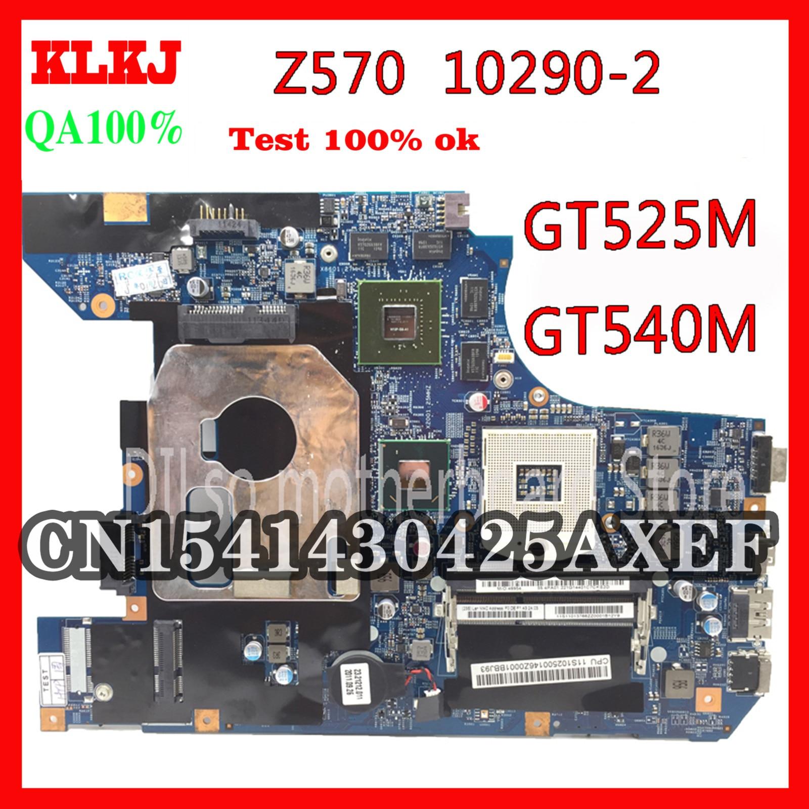 KLKJ 10290-2 LZ57 MB اللوحة الأم الأصلية لينوفو Z570 اللوحة الأم Z570 اللوحة GT540M/GT525M اختبار