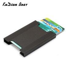 KUDIAN BEAR tarjeta de crédito titular de la cartera de Metal nuevo trae Delgado extraíble de la carpeta de la tarjeta de visita caja sólida Kaarthouder BIH132 PM49