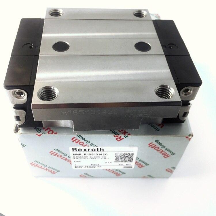 R165131420 100% الأصلي ريكسروث العلامة التجارية أصيلة R1651 314 20 دليل خطي الشريحة عداء كتلة ل ماكينة بتحكم رقمي بالكمبيوتر