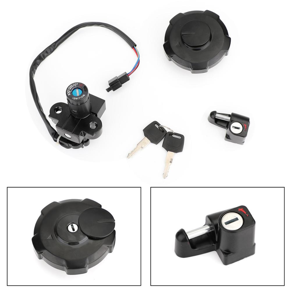Artudatech Ignition Switch Fuel Gas Cap Seat Lock Keys Set For Honda XR650 XR650L 1993-2017 XR 650 650L L Parts