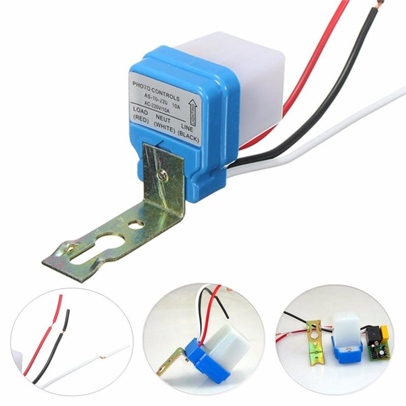 אוטומטי אוטומטי על Off תא פוטואלקטרי רחוב אור מתג DC AC 220V 50-60Hz 10A תמונה בקרת Photoswitch חיישן מתג חשמלי