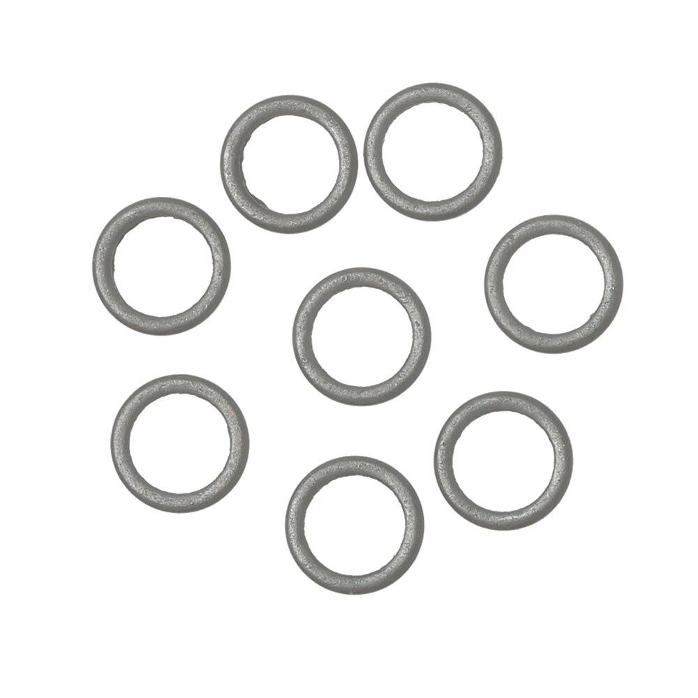 30 Uds 2mm 3,2mm 3,7mm 4,4mm 5,3mm Tippet aparejo de anillo plano redondo negro mate O anillo aparejo para pesca de carpa Terminal accesorio de aparejo