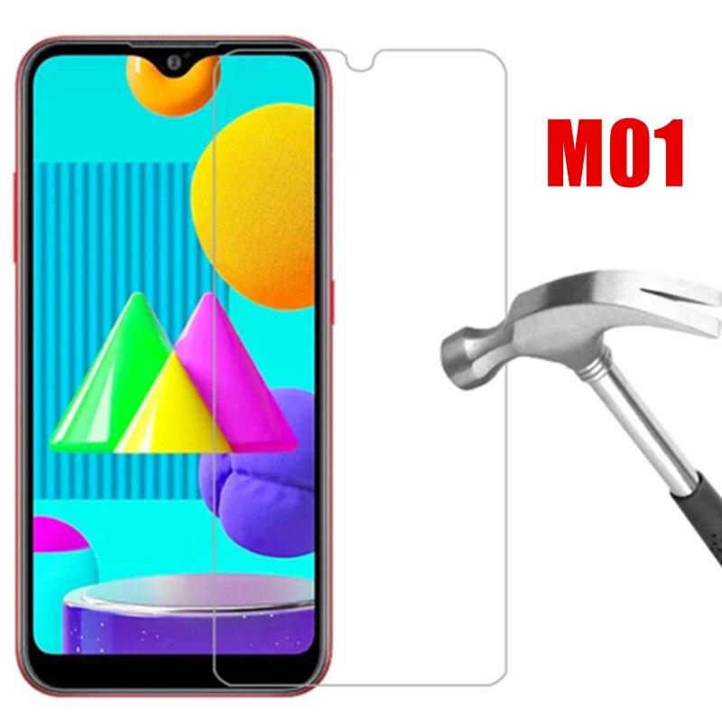 Фото - 3 шт., Защитное стекло для экрана для Samsung M01 Galaxy m 01 защитное закаленное стекло на Samsung Galaxy M 01 m01 телефон защитное стекло защитное стекло
