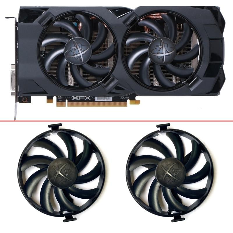 FDC10U12S9-C Cooler Fan Replace For XFX AMD Radeon RX 470 480 580 RX580 RX480 RX470 EDITION RX-480P85EAJ/7 Crimson Graphics Card
