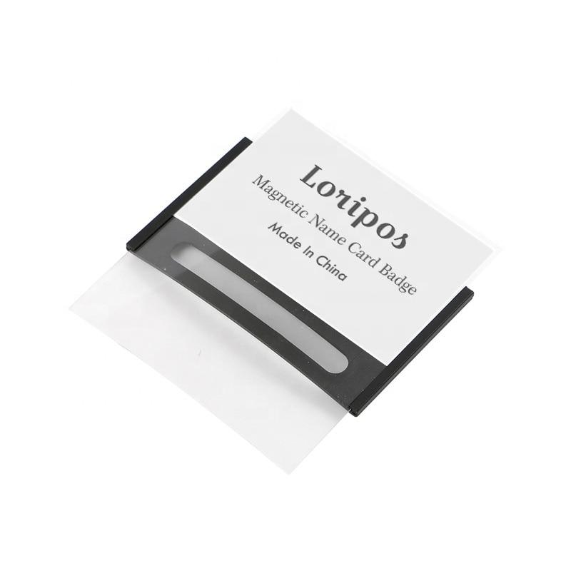 85x54mm Magnetic Reusable name tag badge holder magnet badges Card ID Holders work employee card Frame