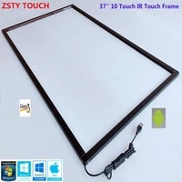 37 inch multi ir touch screen panel 10 touch points infrared touch frame with fast free shipping