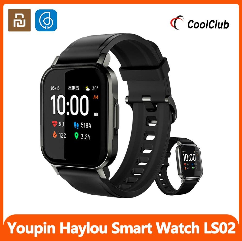 Tela de Exibição Ip68 à Prova Xiaomi Youpin Haylou Relógio Inteligente Dip68 Água Detecção Sono Lembrete Chamada Bluetooth 5.0 Banda Ls02 Tft