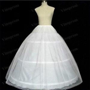 Hot Sale 3 Hoops Ball Gown Bone Full Crinoline Petticoats For Wedding Dress Wedding Skirt Quinceanera Dress Petticoat