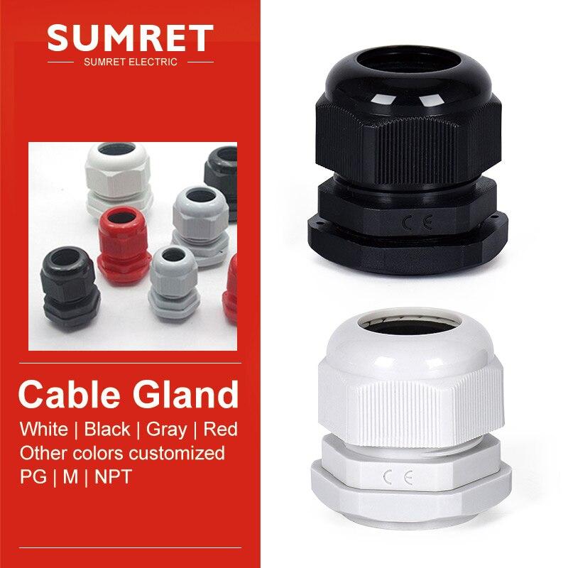 Pasamuros de entrada de cable M72 M75 M80 M88 M100, cable de plástico de nailon glanding IP68, Conector de cabeza grande impermeable, rosca métrica estándar
