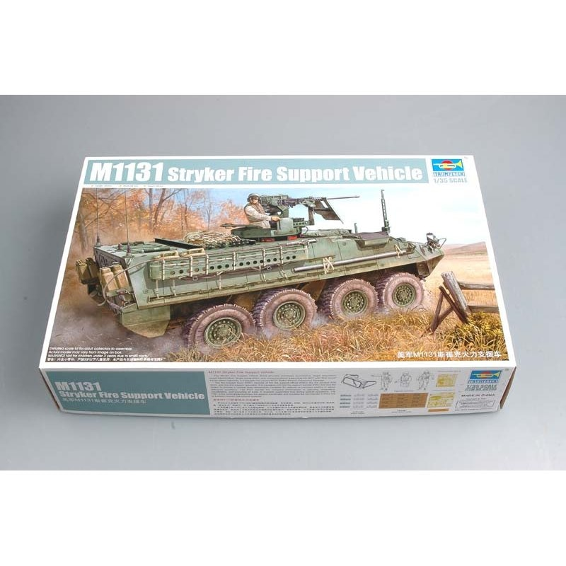 Trumpeter 00398 1/35 ejército de Estados Unidos M1131 Stryker FSV-Kit de modelo a escala