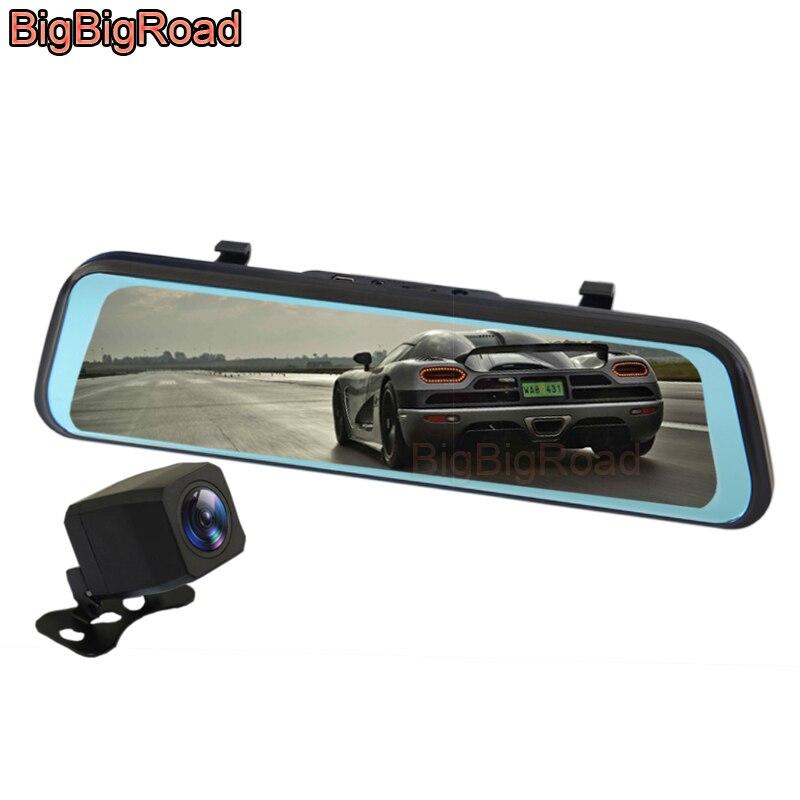 BigBigRoad DVR para automóvil, cámara para tablero, cámara de vídeo para espejo retrovisor para Mitsubishi Outlander Pajero Sport Eclipse Cross L200