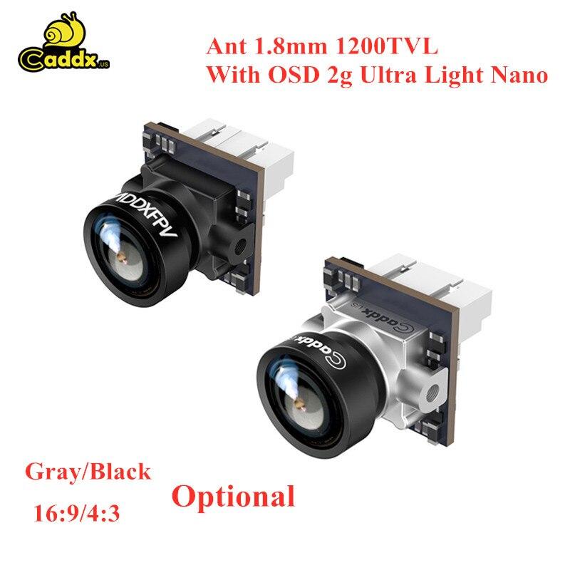Caddx Ant 1.8mm 1200TVL 169/43 globalna kamera WDR FPV do FPV Racing części do drona zdalnie sterowanego multirotora z OSD 2g Ultra Light Na no
