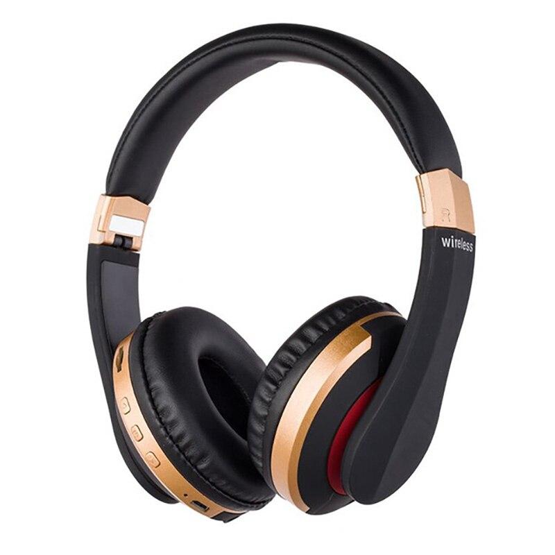 Auriculares inalámbricos Bluetooth, auriculares plegables de Audio Mp3 ajustables, graves profundos con micrófono, tarjeta TF para Ipad, teléfono móvil