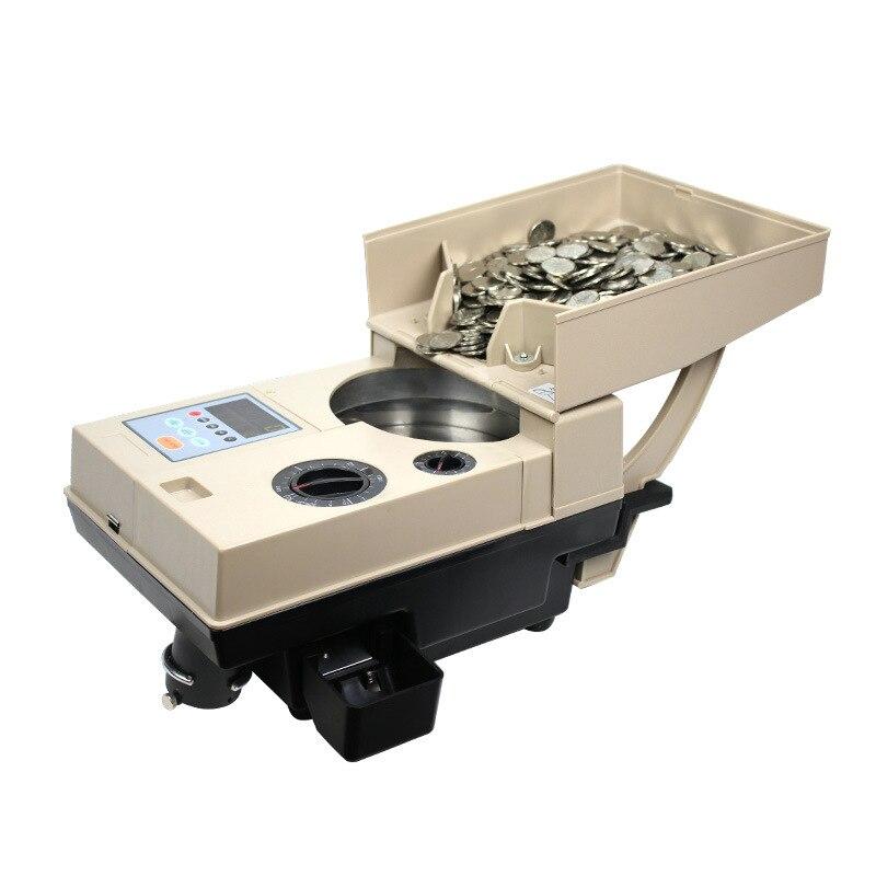 YT-518 clasificadora de monedas de alta velocidad, clasificadora de monedas, máquina contadora puede contar monedas de varios países