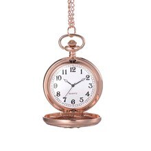 Women Lady Girl Quartz Pocket Watch Necklace Chain Round Pendant Hollow Vintage Gift XRQ88