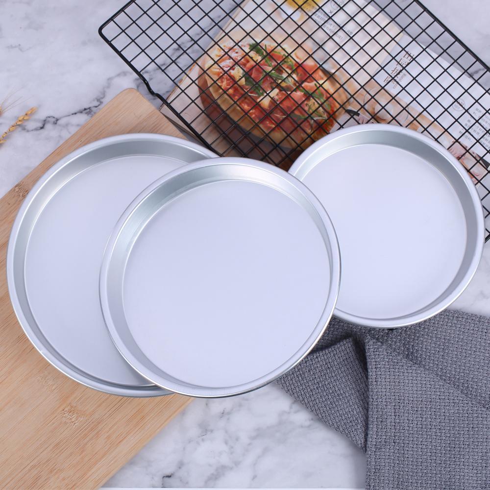 3 sztuk/zestaw 7/8/9 cali patelnia do pizzy płyta ciasto taca na garnek non-stick wypiek chleba Pan akcesoria do pieczenia ciast...