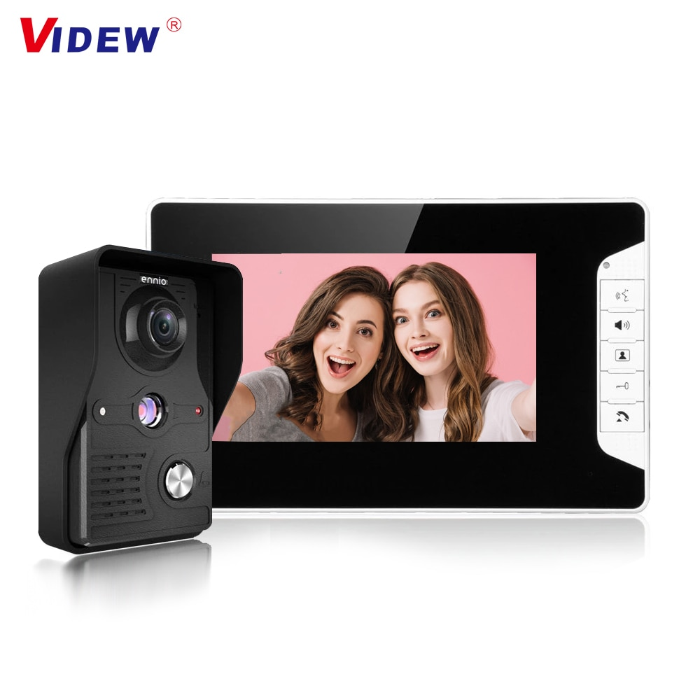 7'' TFT LCD Wired Video Doorbell Intercom Door Entry System Waterproof Bell with Camera and Monitor For Home Security