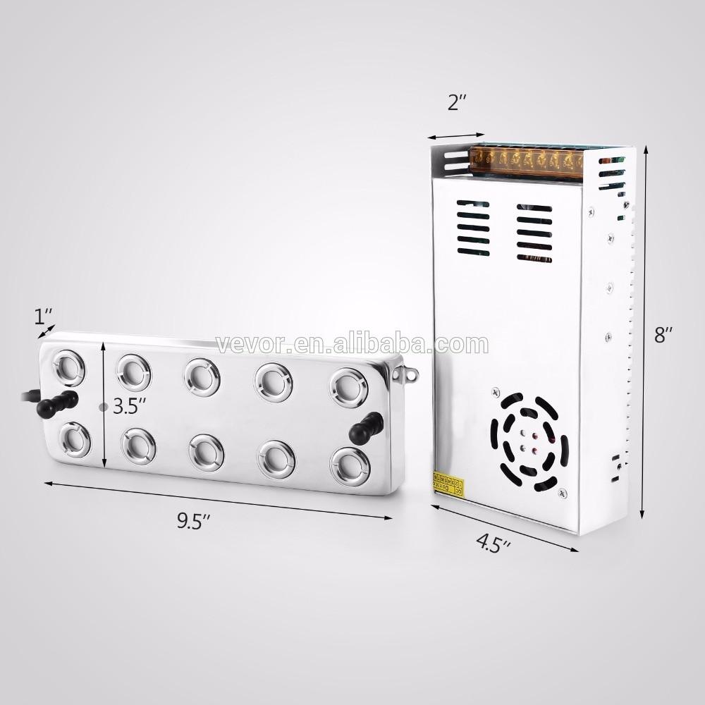 "10 loop 1/2 ""pex coletor radiante piso aquecimento aço inoxidável conjunto/kit"