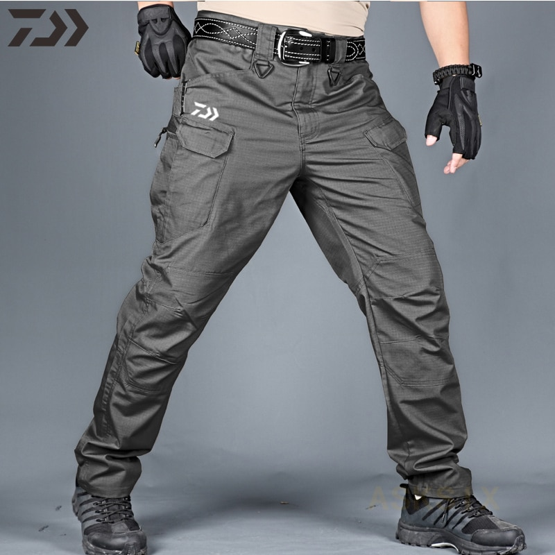 2021 New Daiwa Breathable Waterproof Fishing Pants Camouflage Hiking Hunting Camping Outdoor Wear Thin Spring Fishing Clothes