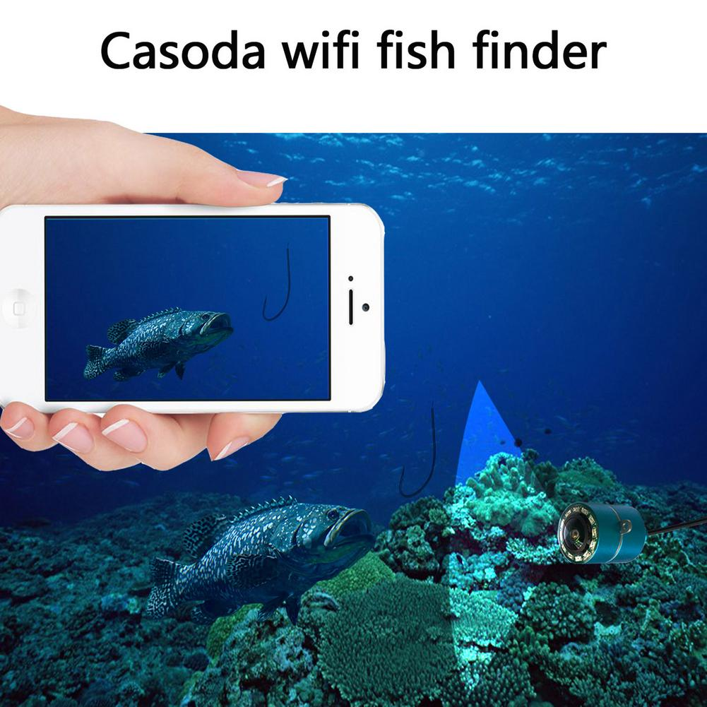 11pcs/set 1080p Wireless Wifi Fish Finder Intelligent Cell Phone Visual Fish Finder Sonar Fishing Detector For IOS And Android enlarge