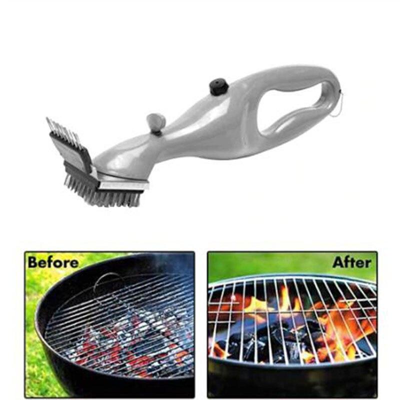 Cepillo de acero inoxidable para parrilla de barbacoa con potencia de vapor, herramientas de cocina para barbacoa, limpiador de manchas de humo, Herramientas de limpieza para barbacoa