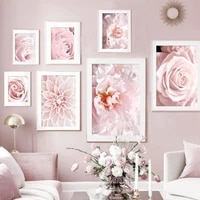 pink flowers bedroom decoration paintings pictures for wall nature plant wall art canvas painting sheets for paintings