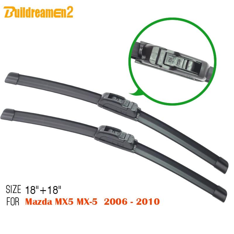 Limpiaparabrisas de revestimiento suave sin soporte Buildreamen2 aptos para Mazda MX-5 MX5 2006-2010 ¡aislamiento sencillo de goma para parabrisas de ventana!