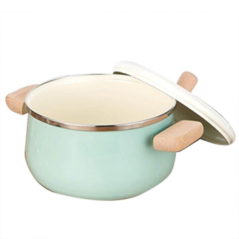 أواني المطبخ المينا إناء للحساء المرجل كسرولة اللبن مقلاة غير لزجة مع طبق التعريفي