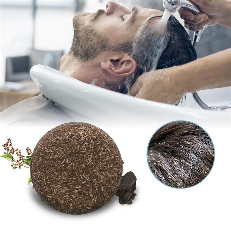 New Polygonum Essence Hair Darkening Shampoo Bar Soap Natural Mild Formula Hair Shampoo Gray Hair Repair Reverse Hair Cleansing недорого