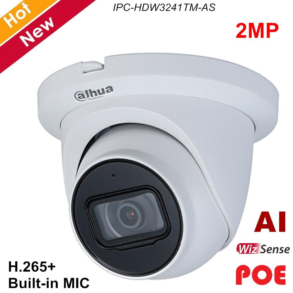 Dahua 2MP Lite AI IR Globo Ocular focal Fixa Netwok IP Poe Câmera Built-In MICROFONE e Led IR Detecção de Movimento H.265 + IPC-HDW3241TM-AS