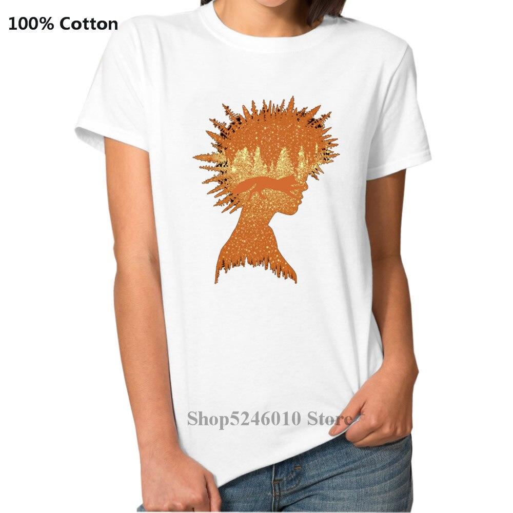 Floresta menina e raposa hipster tshirt streetwear montanhas natureza psychedelic paisagem camiseta ao ar livre mtb árvore selvagem mulher 3d t